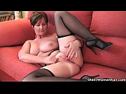 Picture Classy grandma Joy gets fingered and masturb...