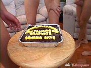 【ザーメンぶっかけケーキ】顔射されまくってケーキを食ザー