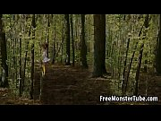woods1 the in fucked gets tails pig with redhead 3d Hot