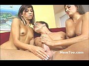 busty slutty mom and skinny daughter take turns sucking big dick