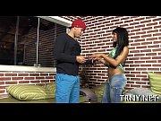 Skinny tranny plays with pecker