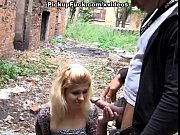 Picture Hot outdoor fuck with a nasty blonde