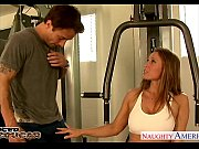 Busty cougar Devon Lee fuck in the gym