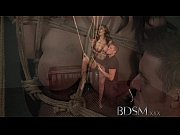 BDSM XXX Russian sub beauty is suspended from the ceiling by Master