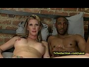 Picture Blond tranny fucks huge dicked black guy