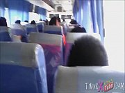 Asian Twink Masturbates His Cock In The Bus