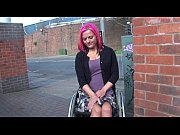 Picture Wheelchair bound Leah Caprice in uk flashing and...