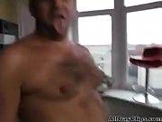 Gay Russian daddies fuck bareback and suck older guy - mature