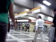 Rico culito en el metro