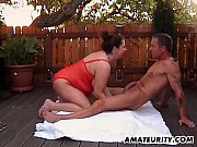 Picture Chubby amateur Milf anal fuck in the backyar