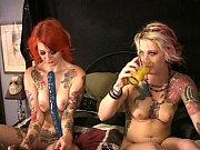 Two tattooed cuties fuck squirt w frankenstein s monstercock longest upload