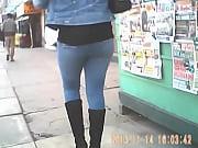 Gordita ricotona en jeans - culo.