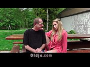 Picture Old man taste the pee of a young blonde, after fu...