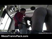 Tranny Public Sex in a Bus!