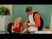 Stockinged blonde teacher...