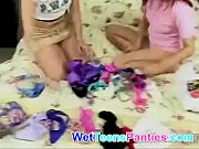 Panty sniffing teen lesbians