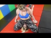 BBW vs Tall Girl - Facesitting Wrestling