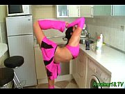 Picture Flexible gymnast gets facial