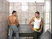 Trio de vergas en el baño