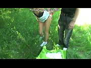 Woman fucked in the bushes at