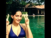 Sonam kapoor bikini in the pool boobsnice blogspot com