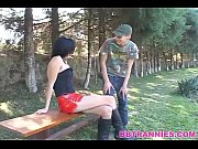 Picture Skinny shemale cums in the mouht of her man