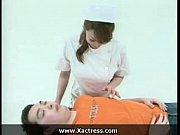 【風間ゆみ】ボイン痴女看護婦に全部おまかせ。白ストッキングの美尻を股間に押し付け僕のチクビを攻めてくるwww