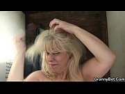 Blonde granny gets screwed by