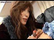 Asian futanari gets her cock sucked