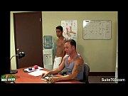 Sexy gay jocks fucking in the office