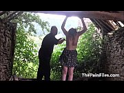 Picture Saschas outdoor tit whipping and brutal biza...