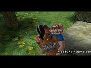 Foxy 3D cartoon ebony honey gets fucked at the park