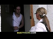 Busty salesgirl gets...