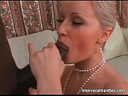 Nasty blonde milf sucks big fat black