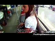 Fucking glasses fucked for cash near the bus stop