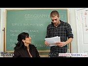 Chesty brunette teacher...