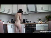Picture Getting nude in the kitchen makes her happy