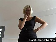 Anna Joy gives a harsh handjob