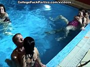 Picture Student orgy in the pool