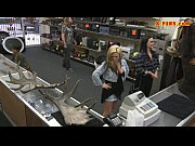 lesbians pawn their asses with nasty dude in the pawnshop