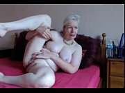 Hot UK Gran Gets Nude And Rubs Her Shaved Pussy
