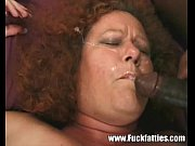 mature fat redhead in kinky lingerie double teamed