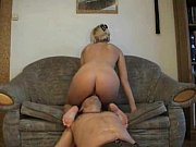 pussy her clean to forced slave - facesitting Femdom