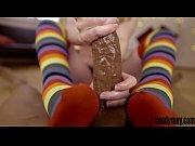 Candy May - Plays with big black cock, handjob.(Rainbow handjob)