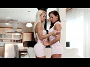 Picture Lesbo stunners strip naked and tease each ot...