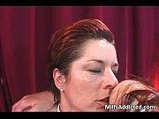 three hot lesbian milfs licking pussies