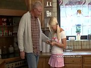 Horny old daddy and blonde dau