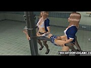 3d cartoon College girls having some fun together, school girls having fun Video Screenshot Preview