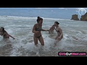 girls out west – nasty lesbian orgy at the beach – Porn Video