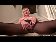 Picture Granny Claire gets naughty on the stairs